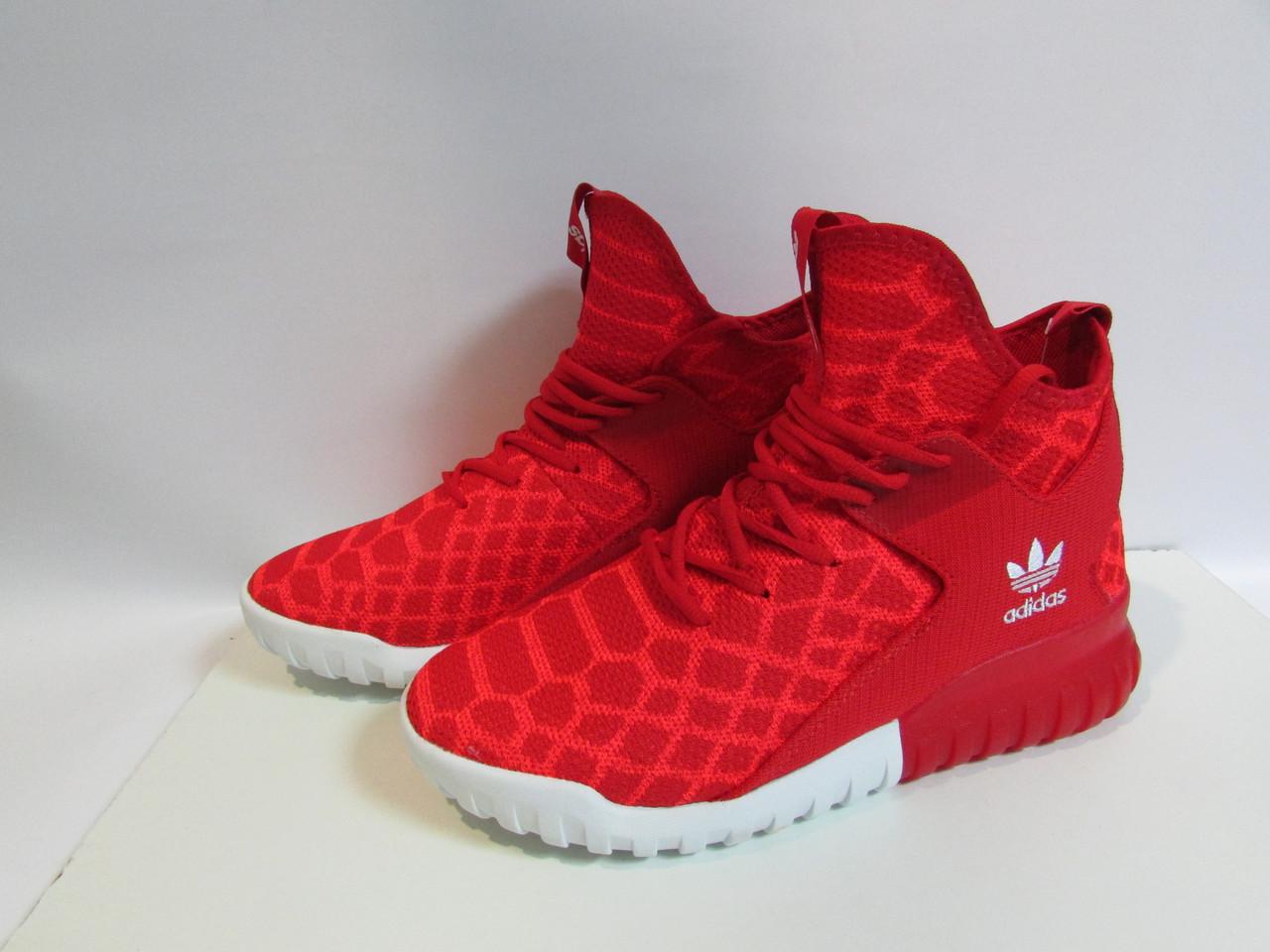 77d20c1d Мужские кроссовки Adidas красные высокие ( 345) код 957А - Интернет-магазин