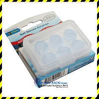 Антибактериальные силиконовые беруши-шарики BioEars (3 пары!).