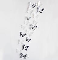 """Наклейка на стену """"бабочки разноцветные 18шт набор черно-белые"""" виниловые наклейки, украшения стены наклейки"""