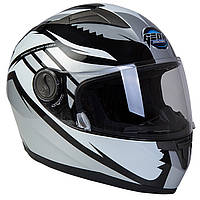 Шлем GEON 968 Интеграл Race Black-Silvery