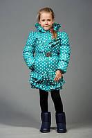 Куртка весна-осень для девочек, размеры  32,34,36, 38, утеплитель — холофайбер (весна)