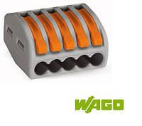 Компактные соединительные клеммы; 5-проводные клеммы WAGO 222-415