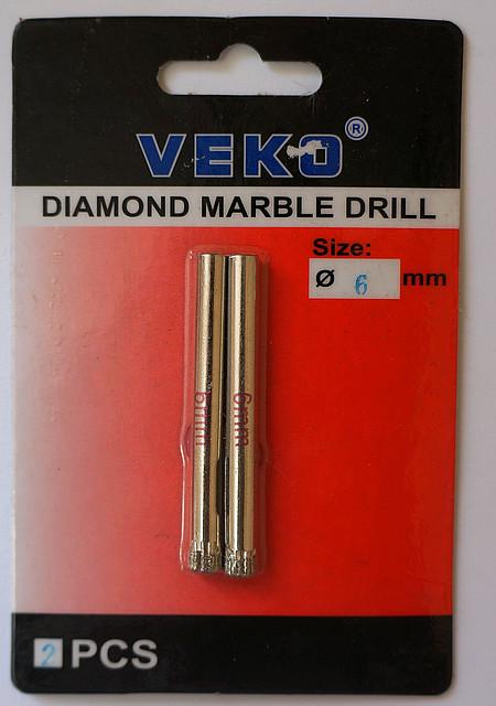 Сверло алмазное кольцевое VEKO 6*65мм