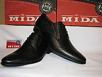Обувь мужская кожаная класика на шнурках Mида