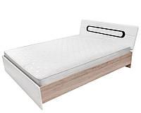 Кровать LOZ/160 Byron 160х200 BRW дуб san remo светлый/белый глянец