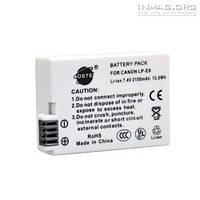 Аккумулятор для фотоаппарата Canon LP-E8, 2100 mAh.
