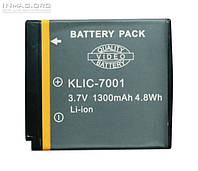 Аккумулятор для фотоаппарата Kodak KLIC-7001, 1300 mAh.