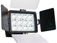 Профессиональный биколорный накамерный светодиодный свет LED-1040A, 3000K-6000K.