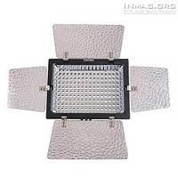 Накамерный светодиодный свет Yongnuo YN-160 со шторками, 5500K-6500K (3200K/фильтр).