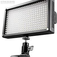 Профессиональный накамерный светодиодный свет LED-312A, 5600K (3200K/фильтр)!