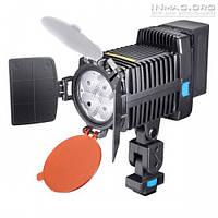 Накамерный светодиодный свет LED-5005 со шторками, 5500K-6500K (3500K/фильтр) + АБ + З/У.