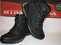Ботинки зимние кожаные на шнурках MIDA