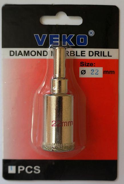 Сверло алмазное кольцевое VEKO 22*65мм