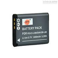 Аккумулятор для фотоаппарата Sanyo DB-L80, 1400 mAh.