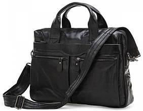 """Кожаный мужской портфель для ноутбука 15"""" S.J.D. 7122A"""