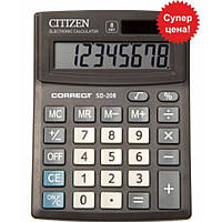 Калькуляторы бухгалтерские Citizen SD-208 черный Correct 8 разряд, 103x138x24, пласт корп, пласт кн