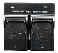 Зарядное устройство для 2-х акумуляторов серии Sony NP-F, NP-FM, NP-QM.