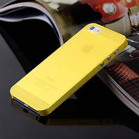 Чохол матовий, жовтий для iPhone 5, 5s