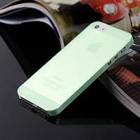 Чохол матовий, зелений для iPhone 5, 5s