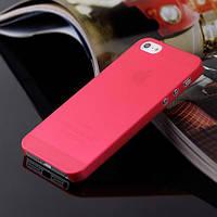 Чохол матовий, червоний для iPhone 5, 5s