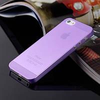 Чехол матовый, фиолетовый для iPhone 5, 5s