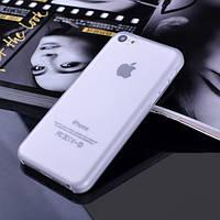 Чехол матовый, белый для iPhone 5c