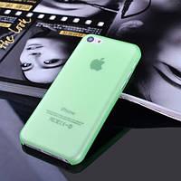 Чехол матовый, зеленый для iPhone 5c