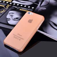 Чехол матовый, оранжевый для iPhone 5c