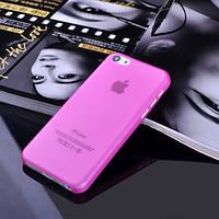 Чехол матовый, розовый для iPhone 5c