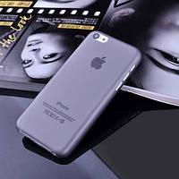 Чехол матовый, серый для iPhone 5c