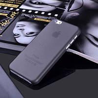 Чехол матовый, черный для iPhone 5c