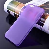 Чохол матовий, фіолетовий для iPhone 6, 6s