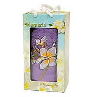 Полотенце махровое Gulcan Plumeria, 50*90см в подарочной упаковке, 3226