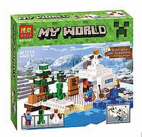 Конструктор Bela 10391 Снежное укрытие (аналог Lego Майнкрафт, Minecraft 21120)