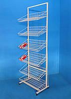 Стеллаж «Ева» 600 с наклонными корзинами, фото 1