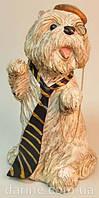 Статуэтка забавная болонка  в  галстуке от студии LadyStyle.Biz