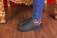 Женские черные кросcовки Adidas superstar /black