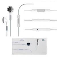Наушники iPhone 4,4s,3g,3gs 3,5 Оригинал white (пульт+микрофон)