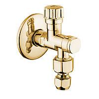 Золотой запорный вентиль с фильтром Bugnatese Италия