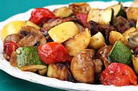 Шампиньоны в фольге с овощами