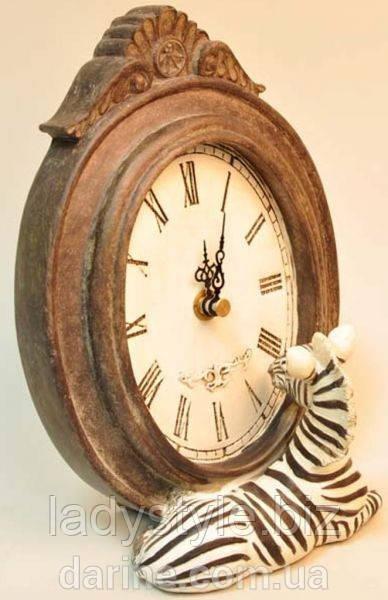 Экзотические настольные часы с зеброй