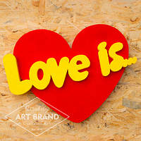 Объемное сердце Love is...