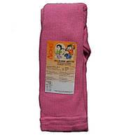 Колготки простые однотонные розового цвета, рост 122 см