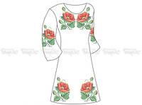 Заготовка женского платья «Маки-Анемоны»
