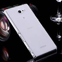 Чехол силиконовый Ультратонкий Remax для Sony Xperia M2 D2305, D2302 прозрачный