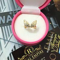 """Кольцо """"Ангел"""" серебристого цвета с крыльями размер регулируется."""