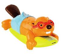 """Игрушка для ванной """"Поющий Бобер на доске для Серфинга"""" Tomy"""