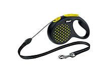 Flexi DESIGN поводок-рулетка для собак, трос, размер S (5м, 12кг)