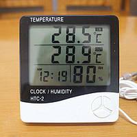 Метеостанция с часами TS - HTC 2 (измер. температуру и влажность, часы, наружный датчик температур), Термометр
