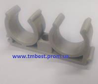 Крепеж полипропиленовый(ППР) для труб диаметр 25(двойной) для крепления труб в системах водоснабжени